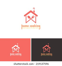 Home Cooking, abstract Home hand-arm Vector Icons, Logos, Sign, Symbol Template