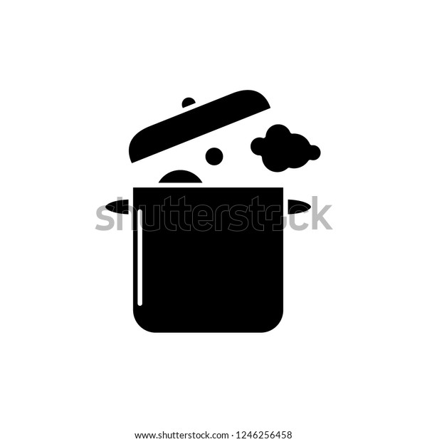 Home Cooking Black Icon Vector Sign Stock Vector Royalty Free 1246256458