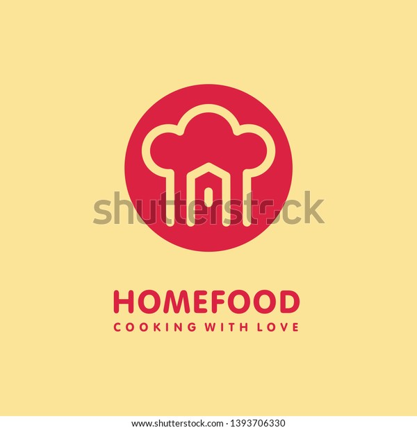 Home Cooking Food Logo Design Chef Stock Vector Royalty Free 1393706330