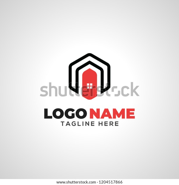 Home Cube Logo Stock Vector (Royalty Free) 1204517866