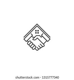 Home deal,house property dealer. Vector logo icon template