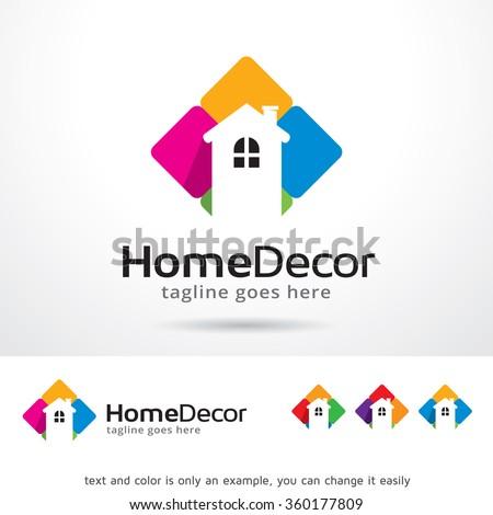 Home Decor Logo Template Design Vector Stock Vector Royalty Free