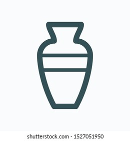 Home decoration isolated icon, vase linear vector icon
