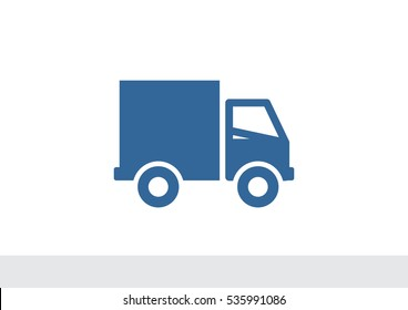 Home delivery icon Flat.