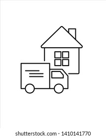 home delivery line icon,vector best line icon.