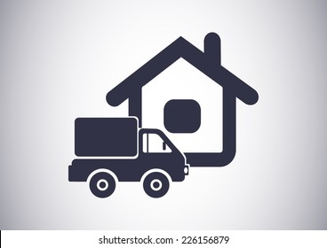 home delivery, web icon. vector design