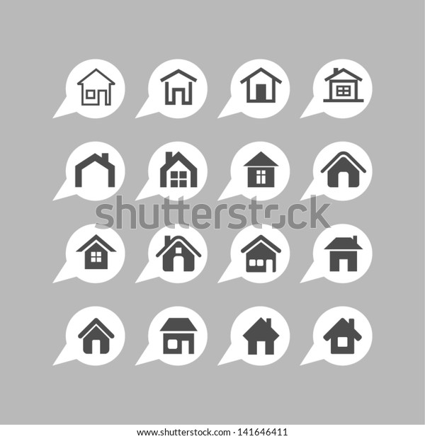 Home Design Icons Stock Vector Royalty Free 141646411