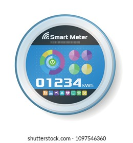 In Home Display, In Home Monitor, Smart Meter, vector illustration