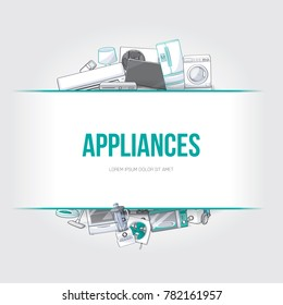 Home electronic appliances design element. Vector illustration