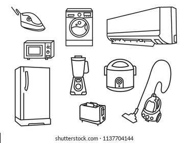 home electronic icons on white 260nw 1137704144 dry fruit oven stock vectors, images & vector art shutterstock