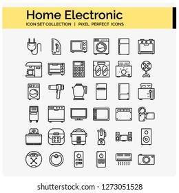 home electronic icons set ,web design pixel perfect 64x64 vector app ui