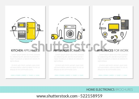 home electronics appliances business brochures template のベクター