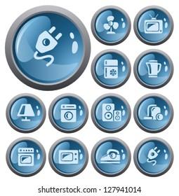 Home electronics button set