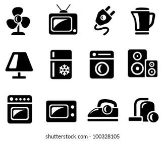 Home electronics icon set