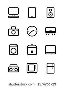 Home Eletronics Icon Sets