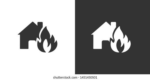 Home Fire Symbol Icon Vector