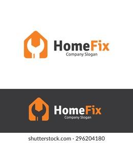 Home Fix Logo Template