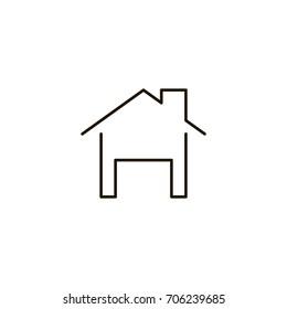 House Logo Black White Images Stock Photos Vectors Shutterstock