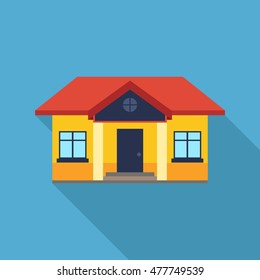home flat icon. You can be used home icon for several purposes like: websites, UI, UX, print templates, promotional materials, info-graphics, web and mobile phone apps.
