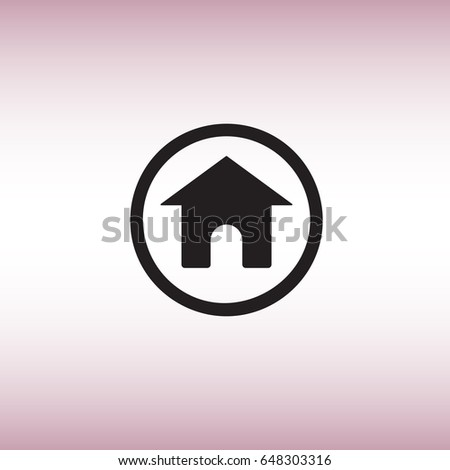 Home Flat Vector Sign Isolated Homepage Image Vectorielle De Stock