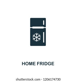Home Fridge icon. Premium style design from household collection. UX and UI. Pixel perfect home fridge icon. For web design, apps, software, printing usage.