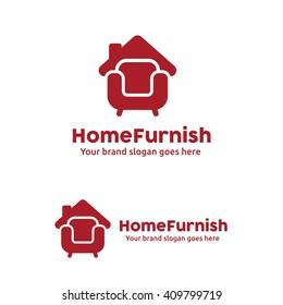 Home Furniture Logo Sofa and Roof