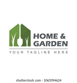 home garden design logo template