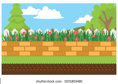 home garden yard, vector illustration