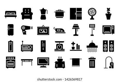 home glyph icon symbol set