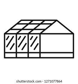 Home greenhouse icon. Outline home greenhouse vector icon for web design isolated on white background
