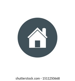 Home, Homepage Icon. vector graphics.