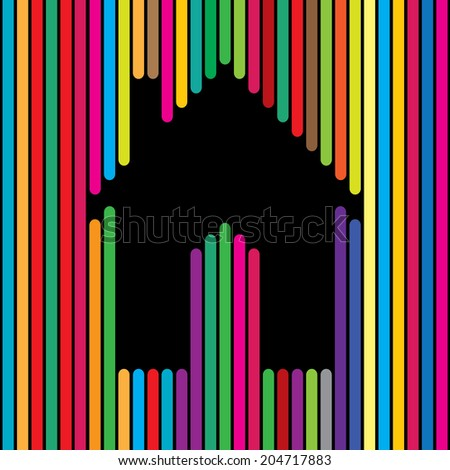 Home House Apartment Icon Using Colorful Stock Vector (Royalty Free on web design lines, clip art lines, white design lines, geometric design lines, background design lines, designs using lines, designs of lines, graphic water wavy lines, art design lines, layout design lines, graphic arts, graphic lines bars, fashion design lines, 2d design lines, graphic designs swirls, packaging design lines, simple design lines, logo design lines, bold design lines, classic design lines,