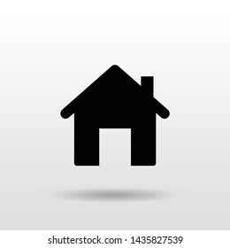 home house icon design solid style