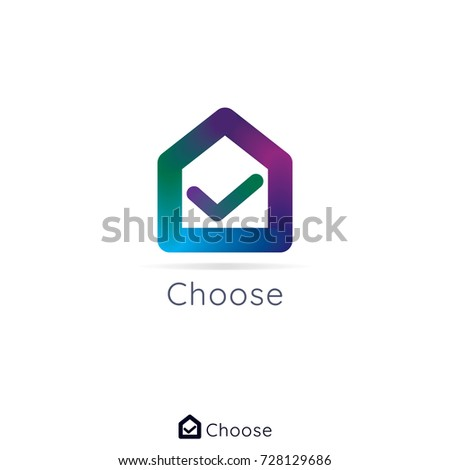 Home House Real Estate Logo Design Stock Vector Royalty Free