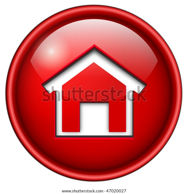 Home Icon Button 3d Red Glossy Stock Vector (Royalty Free
