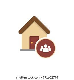 Home icon. Cohabitation concept