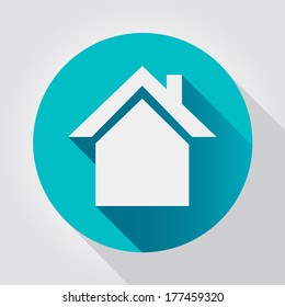 Home icon, flat design