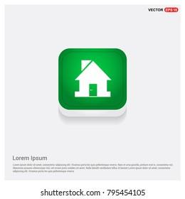 Home Icon Green Web Button