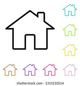 Home icon. House vector icon