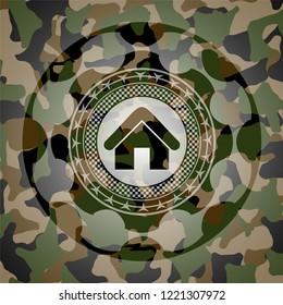 home icon inside camo emblem
