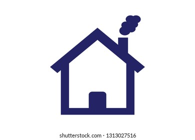 Home icon isolate on white background vector illustration eps8.