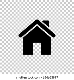 Home icon isolated on transparent background. Black symbol for your design. Vector illustration, easy to edit.