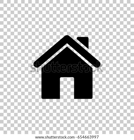 Home Icon Isolated On Transparent Background Stock Vector Royalty