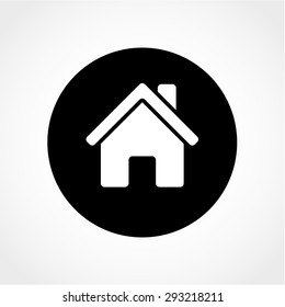 Home Icon Isolated on White Background