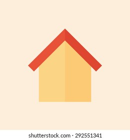 Home icon, modern minimal flat design style. House symbol, vector illustration