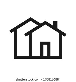 Home icon - symbol of house vector flat syle color editable