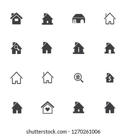 home icon and symbol , real estate  logo design vector