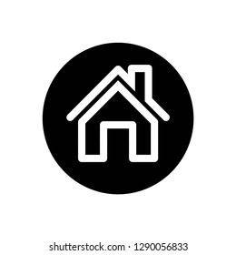 home icon symbol vector. on white background editable eps10