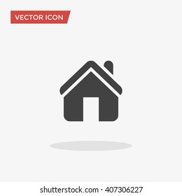 Home Icon in trendy flat style isolated on grey background. Homepage symbol for your web site design, logo, app, UI. Vector illustration, EPS10.