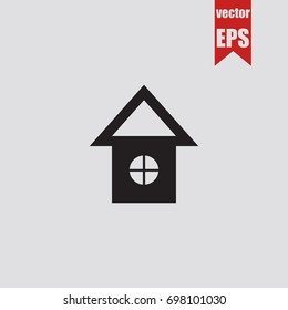 Home icon in trendy isolated on grey background.Vector illustration.
